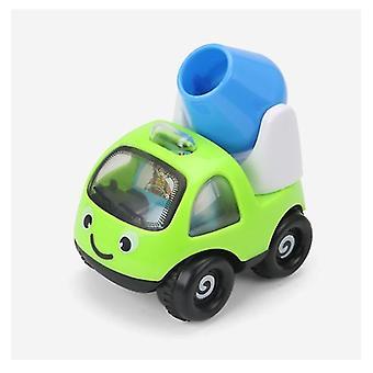 2Pcs الأخضر الأولاد والبنات مصغرة سيارة هندسة الرسوم المتحركة القصور الذاتي سيارة، سيارة لطيف الأطفال نموذج الطائرة az7049