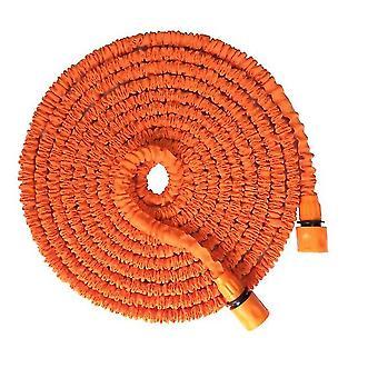 25Ft orange 25ft-100ft expandable flexible garden water pipe with spray gun az37