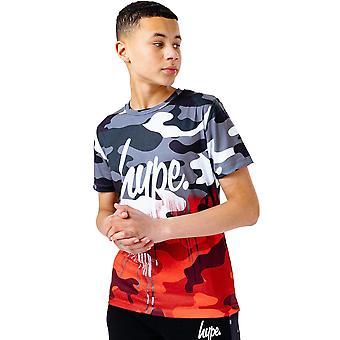 Hype Childrens/Kids Mono Half Camo Goteja t-shirt