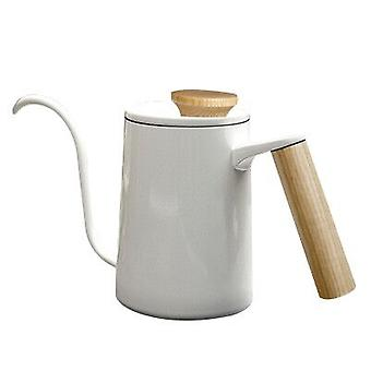 600ml Stylish Stainless Steel Handle Drip Coffee Pot, Long Gooseneck Spout Kettle, Filtered Water Coffee Pot