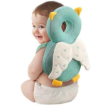 Toddler Baby Head Protection Cushion Backpack Wear(Green)