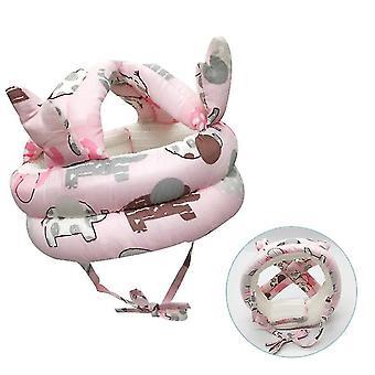 Baby peuter hoofdbescherming kussen (roze)