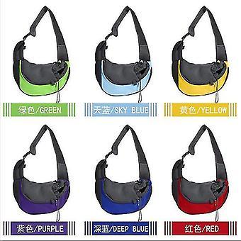 Outdoor travel pet supplies, pet backpack, dog backpack shoulder bag pet travel bag(dark blue)