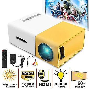 1080P Full HD Mini Home Projektor LED Video Theater Kino USB HDMI AV SD YG300