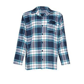 Cyberjammies Lewis 6630 Miesten Sininen Check Pyjama Top