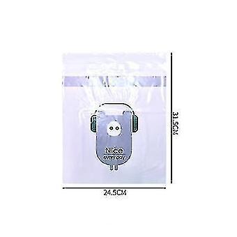 2pcs sac de nettoyage de stockage jetable pour dans le véhicule Collant mignon Cartoon Car (Violet)