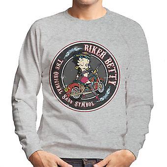 Betty Boop Biker Betty Men's Sweatshirt