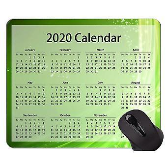 (260x210x3) Calendario 2020 Almohadilla de ratón original personalizada, almohadilla de ratón con temática de punto de estrella verde con cosido