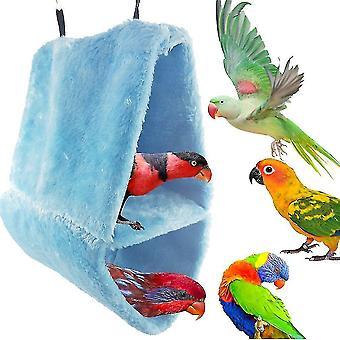 Nagy dupla bársony fészek papagáj madárfészek pamut függőágy háromszög ketrec