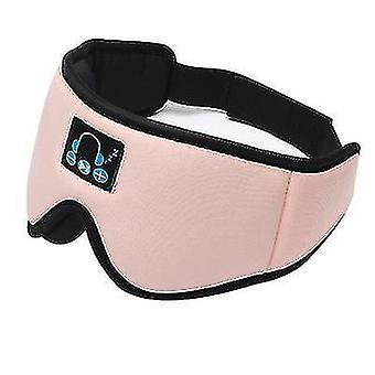 Drahtlose Bluetooth-Schlafaugenmaske, Schattierung und atmungsaktiv, um den Schlaf zu unterstützen (Pink)