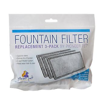 Pioneer Replacement Filters for Plastic Raindrop and Fung Shui Fountains - 3 Pack