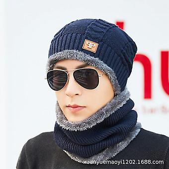Two Windproof Earmuffs Thick Woolen Cap And Scarf