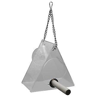 Hjem Pet Bird Feeder Triangle Hængende Gennemsigtig Vandtæt Feeder Geometri Indendørs Dekoration