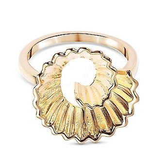 RACHEL GALLEY Pencil Shavings Ring for Womens in Gold Plated Silver(Q)