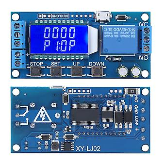 Dc 5v Delay Disconnection Cycle Timing Relay Module Lcd Digital Display Adjustable Time Delay Relay Switch For Home Automation