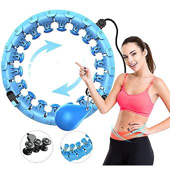 Smart Hula Hoop 24 Section Fitness Ring Adjustable Massage Section Abdominal Trainer Gymnastics Ring