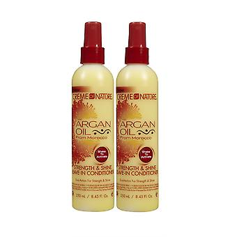 Creme of Nature Argan Oil Leave-in Conditioner 250ml (2-pack)