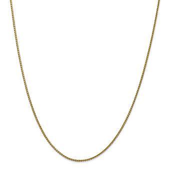 14k Guld 1.55mm Semi solid Hvede Chain Anklet smykker Gaver til kvinder - Længde: 9 til 10