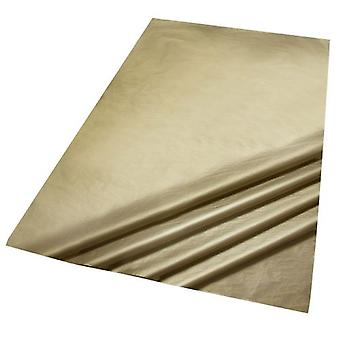 2 packs of 5 Sheets of Metallic Gold Colour Acid Free Bleed Resistant Unbuffered Tissue Paper 500 x 700