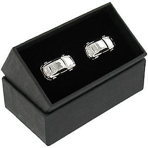 Classic Sports Car Chrome Cufflinks in gift box