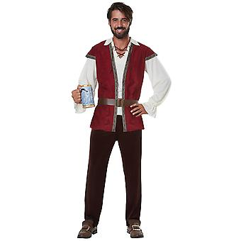Medieval Man Tavern Beer Renaissance Game of Thrones Mens Costume Plus XXL