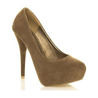 Ajvani kvinners høy hæl partiet smart arbeid kvelden skjult plattform retten sko pumper