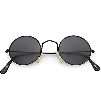 True Vintage Small Thin Frame Circle Sunglasses Neutral Colored Lens 42mm