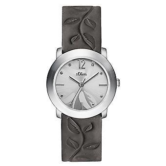 s.Oliver Damen Uhr Armbanduhr Leder SO-3316-LQ