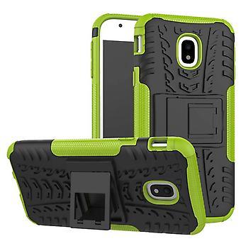 Hybrid Case 2teilig Outdoor Grün Tasche Hülle für Samsung Galaxy J7 J730F 2017