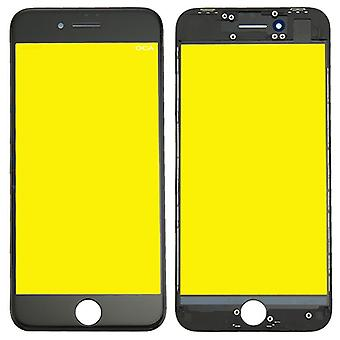 Display glass for Apple iPhone 8 4.7 display glass LCD + frame + OCA glue parts black