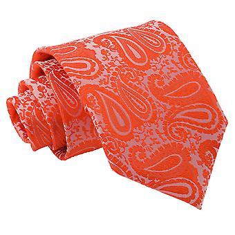 Verbrande oranje Paisley klassieke Tie