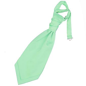Mint Green ren Satin pre bundet bryllupet Cravat for gutter