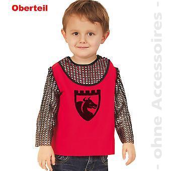 Camisa de cavaleiro de crianças cavaleiro traje de fantasia de criança de lutador de espada medieval