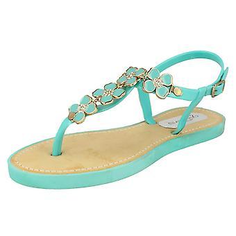 Mesdames ouvrez Sandal Toe avec détail supérieur