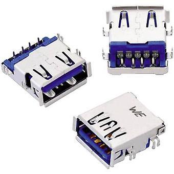 USB 3.0-type En vandret med forskudt 1,04 mm WR-COM-stik, vandret montering WR-COM 692121230100 Würth Elektronik Indhold: 1 stk.(er)