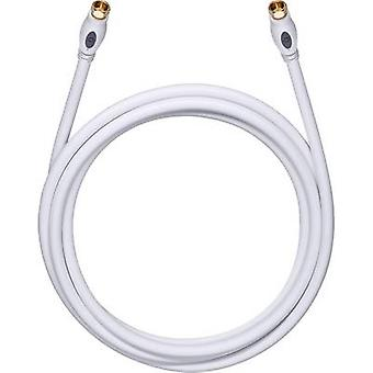 Antennas, SAT Cable [1x F plug - 1x F plug] 1.70 m 120 dB gold plated connectors White Oehlbach Transmission Plus S