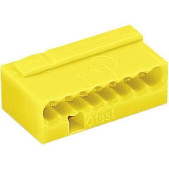 Skruen terminal stive:-0.8 mm² antall pinner: 8 WAGO 1 eller flere PCer gul