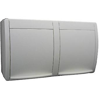 Busch-Jaeger 20/2 EW-54 Wet room switch product range Twin socket Ocean (surface-mount) White