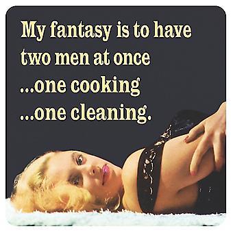 Mi fantasía es tener dos hombres a la vez... Bebidas divertidas Mat / montaña rusa
