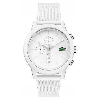 Lacoste 12.12 White Chronograph Silicone Strap 2010974 Watch