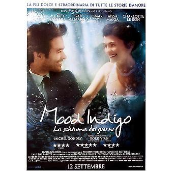Cartel de película italiana humor Indigo poster Romain Duris, Audrey Tautou