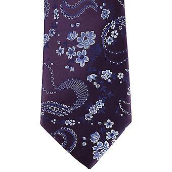 David Van Hagen Floral Krawatte - lila