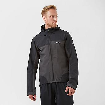 New Gore Men's C5 GORE-TEX Active Trail Hooded Jacket Black