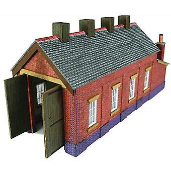 Metcalfe Models Pn931 N Gauge Red Brick Single Track Engine Shed