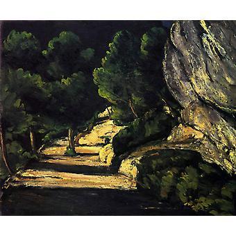 Landscape,Paul Cezanne,53.8x64.9cm