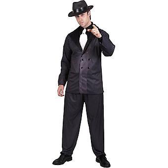 "Gangster Costume, Chest 42""-44"", Leg Inseam 33"""