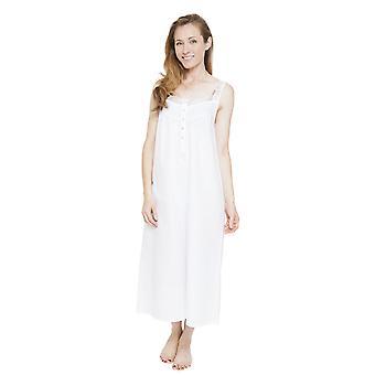 Cyberjammies 1314 kvinders Nora Rose Pearl White Night kjole Loungewear natkjole