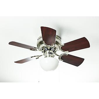 Ceiling fan Petite brushed nickel with pull cord 76 cm / 30