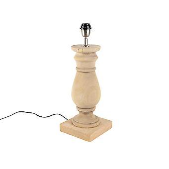 QAZQA Land Tisch Lampe Naturholz ohne Schatten - Katzenminze