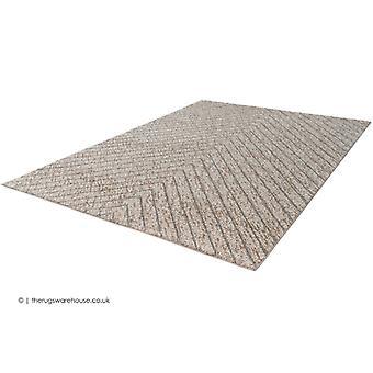 Líneas de oscilación alfombra Beige